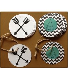 Teepee and Arrow Goodie Bag Tags by PartyGypsy on Etsy, $12.00