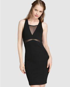Vestido ceñido de mujer Only con transparencias