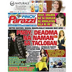 Pinoy Parazzi Vol 8 Issue 134 November 09 – 10, 2015 http://www.pinoyparazzi.com/pinoy-parazzi-vol-8-issue-134-november-09-10-2015/