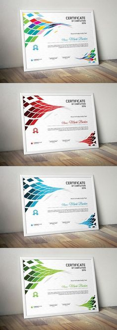 Fully Layered & editable - inches) + Bleed Area - 4 Vector EPS files (AI) - CMYK Colors - 300 DPI resolution - Print Ready Format - Free fonts used, Certificate Layout, Certificate Design Template, Training Certificate, School Certificate, Free Proposal Template, Project Proposal Template, Wedding Fonts, Wedding Cards, Certificate Of Appreciation