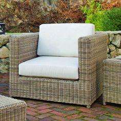 "Sag Harbor Chat Chair  Kingsley-Bate: Elegant Outdoor Furniture  37.5""W x 37.5""D x 29""H"