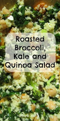 Roasted Broccoli & Kale Quinoa Salad - Great Grains!