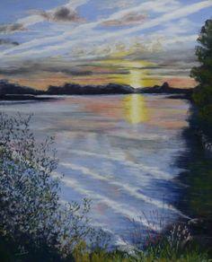 0159 lever de soleil sur la loire pmat 40x50 08 15