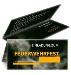 Moderne Einladungen für Feuerwehrfeste. #einladungen #einladungskarten #feuerwehrfest