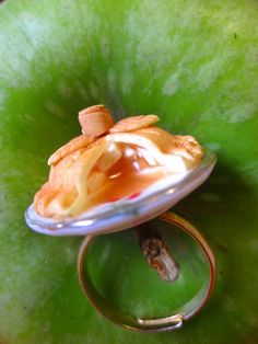 apple pie ring served on a plate Miniature Food, Apple Pie, Pudding, Plates, Jewellery, Ring, Desserts, Licence Plates, Tailgate Desserts