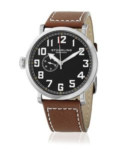 online shopping for Stuhrling Original Men's Monterey Quartz Seconds Subdial Brown Watch from top store. See new offer for Stuhrling Original Men's Monterey Quartz Seconds Subdial Brown Watch Cool Watches, Watches For Men, Online Watch Store, Dark Brown Leather, Watches Online, Stainless Steel Case, Quartz Watch, Leather Men, Mens Fashion