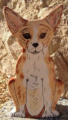 """Hand-painted Porcelain Chihuahua Vase. Signed """"Nina Lyman: Dogs by Nina."""" on Etsy, $19.99"""