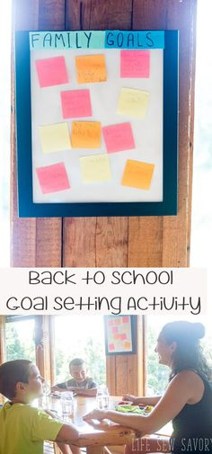 goal setting for kids back to school goal board from Life Sew Savory  #BackToSchoolGoals AD