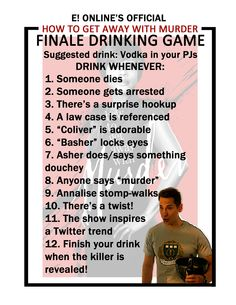 Shonda rhimes and a tgit drinking game abc poster overlays and play our how to get away with murder finale drinking game ccuart Image collections