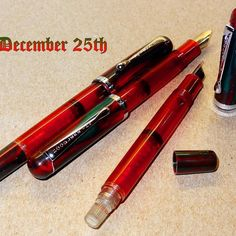 Anyone know if these Noodler Konrad 25 December edition have that particular smell?