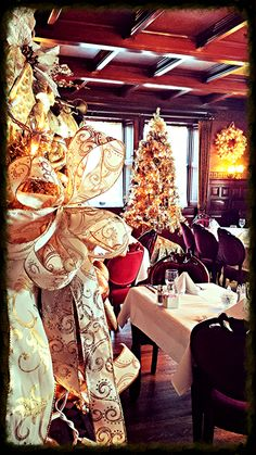 Holiday Cheer within the elegant State Dining Room at Tippecanoe Place Restaurant in downtown South Bend, IN