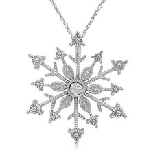 Diamond Accent Snowflake Pendant-Necklace in Sterling Silver Amanda Rose Collection http://www.amazon.com/dp/B00L9E85QW/ref=cm_sw_r_pi_dp_J.iRvb1HZHABP