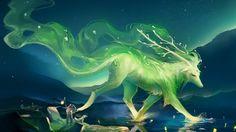 Desktop fantasy wolf wallpaper Mythical creatures Mythical creatures art Magical creatures