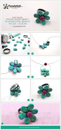 Discover this 10 minutes beads jewelry making inspiration with this handmade ring pattern. A dainty flower ring is perfect for both the spring and summer seasons. All instructions are showed elaborately and clearly.
