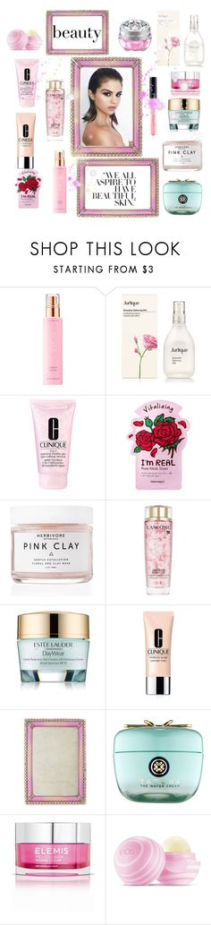 """""""Take Care of Your Skin"""" by sherrysrosecottage-1 ❤ liked on Polyvore featuring beauty, KORA Organics by Miranda Kerr, Clinique, TONYMOLY, Herbivore, Lancôme, Estée Lauder, Jay Strongwater, Tatcha and Elemis"""