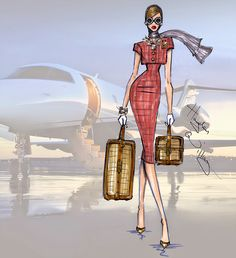 Hayden Williams Fashion Illustrations: Jet Set: 'Travel in Style' by Hayden Williams