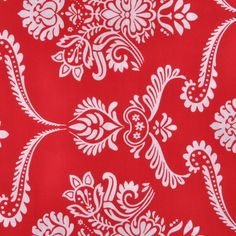 Red and White Classical-Print Cotton - Prints - Cotton - Fashion Fabrics