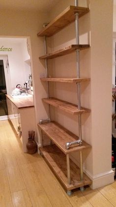 Rustic Urban Industrial Scaffold Shelving Display - Bespoke Handmade Reclaimed…