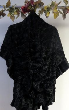 clearance faux fur black cape wrap http://www.yourselegantly.com/clearance/winter-shawls-scarves.html