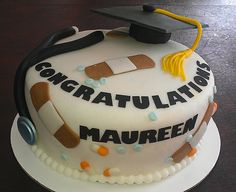 Nurse Graduation Cake!    super cute but not as cute as the one at our graduation!!!