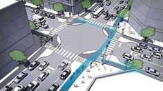 Vídeo: Cruzamentos mais seguros para carros, bicicletas e pedestres