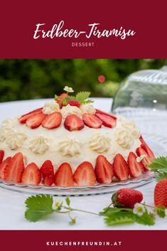 Wow-Rezept für ein köstliches Dessert mit Biskotten, einer Mascarpone-Creme und fruchtigen Erdbeeren. Nicht nur optisch ein Highlight.