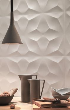 3d wall design by atlasconcorde sculptural ceramic wall tiles 3ddiamond - Wall Design Tiles