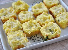 Mashed Potato Puffs! A favorite way to enjoy leftover mashed potatoes. - Makes 12 to 24 Puffs depending on the size of the muffin tin you use.