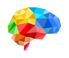 polygon brain illustration