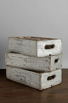 Vintage Silver Wooden Crate - Urban Outfitters