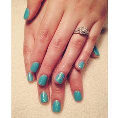 The perfect summer blue #mani! #Bellmore #RedDoorSpa