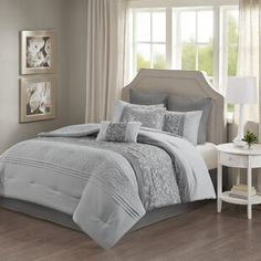 Comforters & Comforter Sets You'll Love in 2021 | Wayfair Orange Comforter, Grey Comforter Sets, King Comforter, Bedding Sets, How To Clean Pillows, Space Furniture, Bedding Collections, Comforters, Decorative Pillows