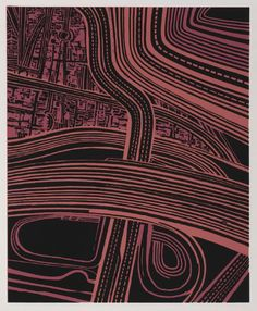 Motorways by Robert Ellis 1969 screen print