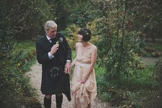 A Peach MaxMara Gown and Flower Circlet for an Intimate Spring Wedding in Scotland | Love My Dress® UK Wedding Blog