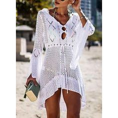 2019 Sexy Bikini Cover Up Crochet Knitted Beach Cover Up Women Swimsuit Cover Up Beach Dress Bathing Suits Cover-Ups Beachwear Swimwear Cover Ups, Bikini Cover Up, Sexy Bikini, Bikini Swimsuit, Bikini Beach, Bikini Dress, Women Bikini, Cute Swimsuit Cover Ups, Cute Cover Ups