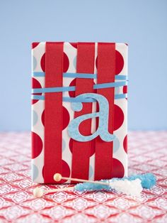 Wrap a gift with ribbon!