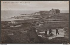 Golf Links and Headland Hotel, Newquay, Cornwall, 1915 - Valentine's Postcard