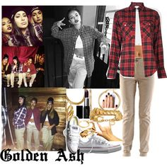 """""""Couple A, B, C's, bad b*tch double D Popping E I don't give a F, told you I'm a G A.S.A.P., Stevie got it on his sleeve"""", created by fashionsetstyler on Polyvore"""