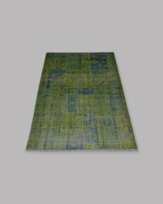 Distressed tribal carpet