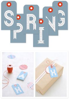 Gift Tags (2 Styles) by the ever talented Ez Pudewa of Creature Comforts Blog - Free PDF Printables