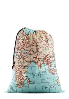 Where It's Atlas Laundry Bag via #ModCloth