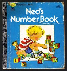 NED'S NUMBER BOOK ~ Vintage Children's First Little Golden Book (3634)