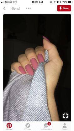 A manicure is a cosmetic elegance therapy for the finger nails and hands. A manicure could deal with just the hands, just the nails, or Cute Acrylic Nails, Matte Nails, Gorgeous Nails, Pretty Nails, Perfect Nails, Hair And Nails, My Nails, Fake Gel Nails, Dream Nails