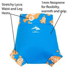Swim school-approved NeoNappy neoprene swim nappy cover happy nappy from Konfidence. Toddler Swimming, Baby Swimming, Back To School Bags, Swim School, Baby Essentials, New Kids, One Piece, Legs, Cover