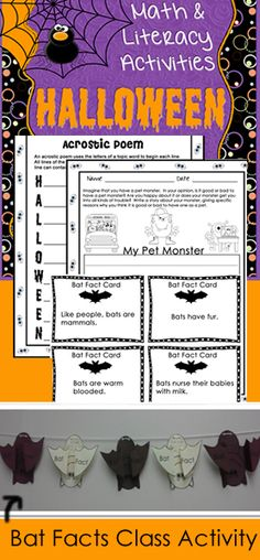 Fun Bat Facts class activity in Halloween Bundle. The bat activity goes great with reading Stellaluna any time of year. $