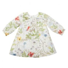 gorgeous baby girls' irma floral dress with bow front from the liberty range of children's clothing brand, bebe by minihahamade from lightweight 100% cotton, this dress is fully lined except for the sleevesthere are five buttons down the length of the back and the cuffs are gently elasticised $64.95