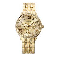 $5.66 (Buy here: https://alitems.com/g/1e8d114494ebda23ff8b16525dc3e8/?i=5&ulp=https%3A%2F%2Fwww.aliexpress.com%2Fitem%2FFashion-Women-Watch-Geneva-Luxury-Business-Gold-Rhinestone-Women-Wristwatches-Stainless-Steel-Quartz-Watches-Relogio-Feminino%2F32406614982.html ) 2017 New Fashion Brand Geneva Watch Men Luxury Stainless Steel Crystal Gold Watches Quartz Casual Wristwatches Relogio Masculino for just $5.66