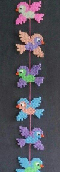 Strijkkralen #vogel #hanger #slinger