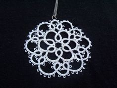 white bridal lace necklace tatted white wedding by laceforbrides, $22.00