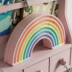 Little Lights lamp Rainbow Pastel Rainbow Bedroom, Rainbow Room Kids, Rainbow Stuff, Rainbow House, Rainbow Nursery Decor, Trofast Ikea, Pastel Bedroom, Pastel Girls Room, Pastel Nursery